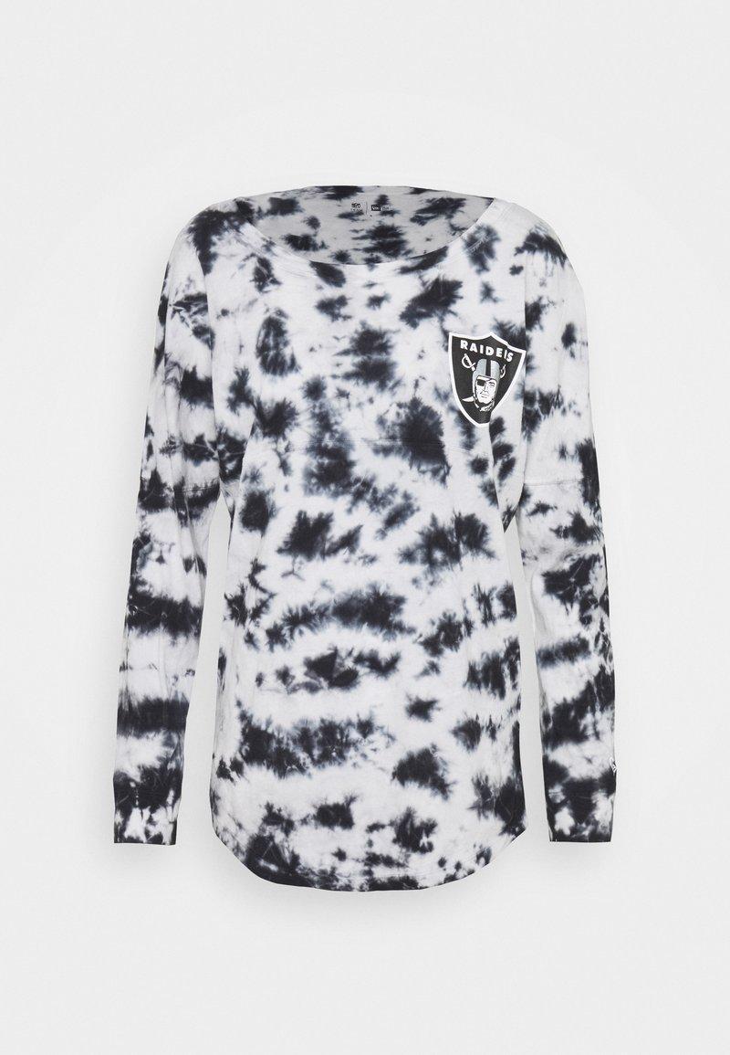 New Era - NFL OAKLAND RAIDERS TIE DYE LONG SLEEVE - Club wear - grey