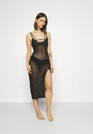 SHEER BEACH COVER UP DRESS - Beach accessory - black