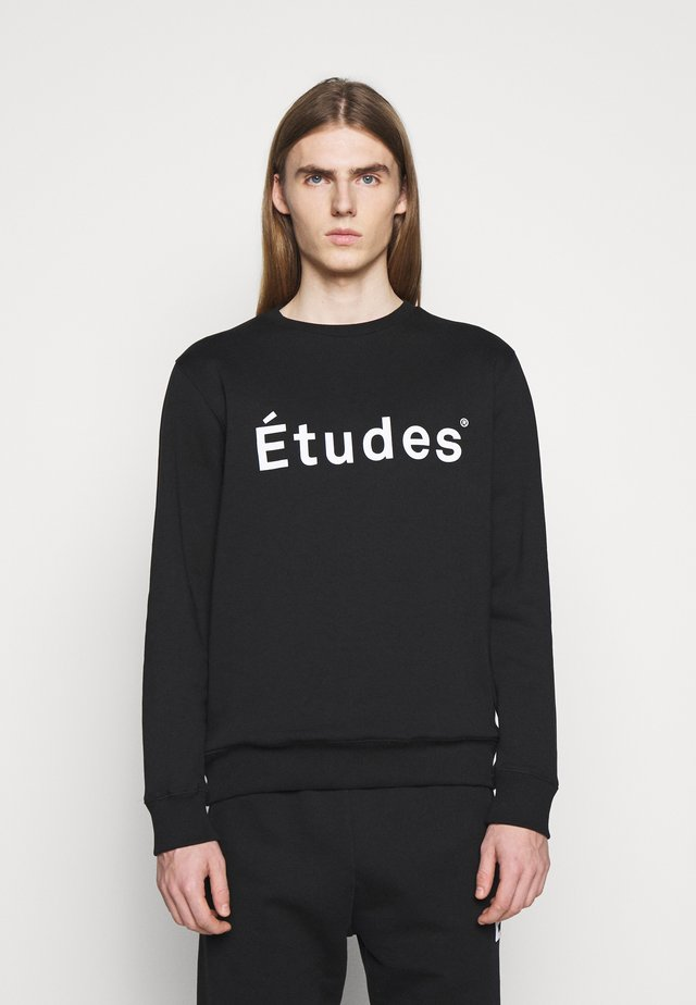 STORY ETUDES - veste en sweat zippée - black