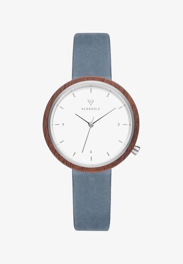 HILDE - Watch - blue/brown