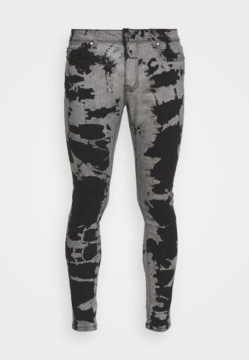 Skinny džíny - grey/black wash
