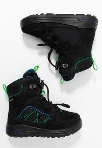 ECCO - URBAN SNOWBOARDER - Winter boots - black/poseidon - 0