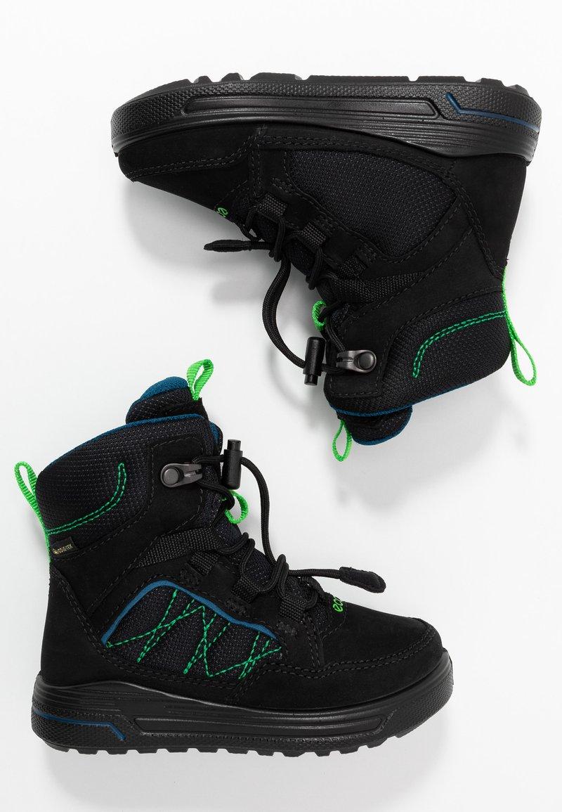 ECCO - URBAN SNOWBOARDER - Winter boots - black/poseidon