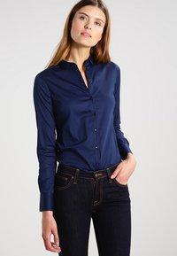 Mos Mosh - TILDA - Button-down blouse - navy - 0