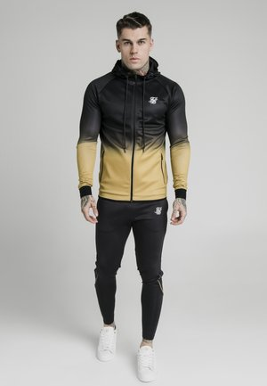 Zip-up hoodie - black  gold