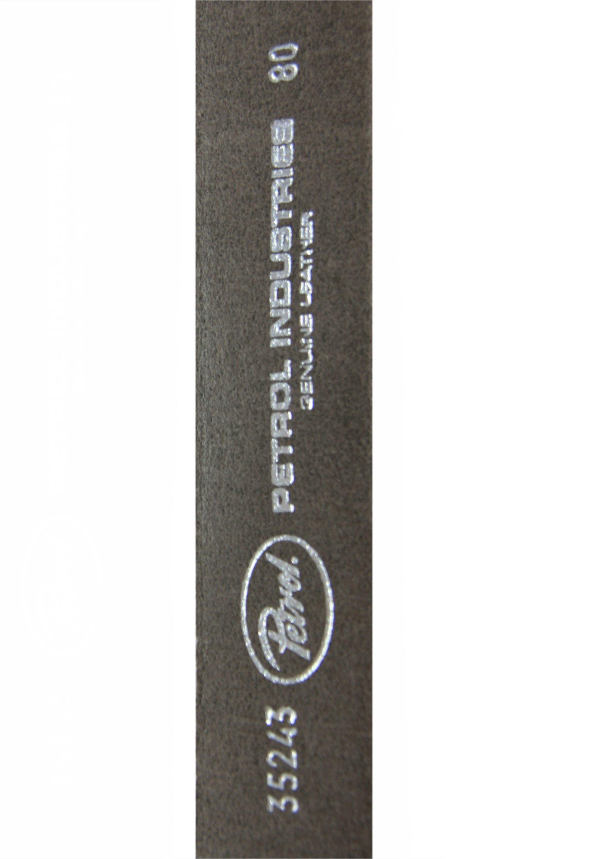 Petrol Industries Hochwertiger Dornschließe - Gürtel Grau