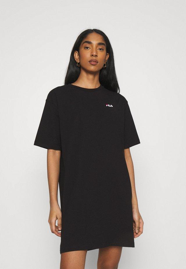 ELLE TEE DRESS - Žerzejové šaty - black