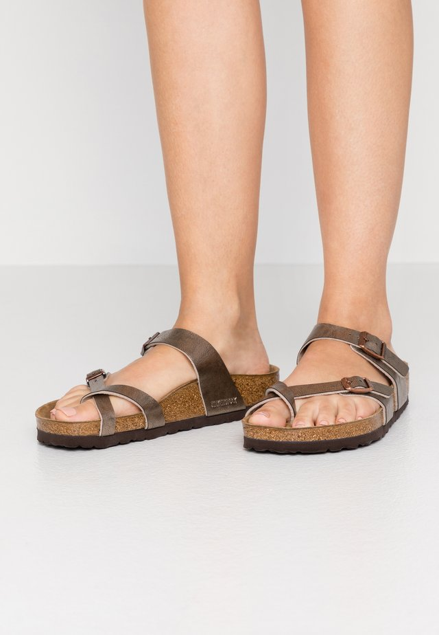 MAYARI - T-bar sandals - graceful taupe