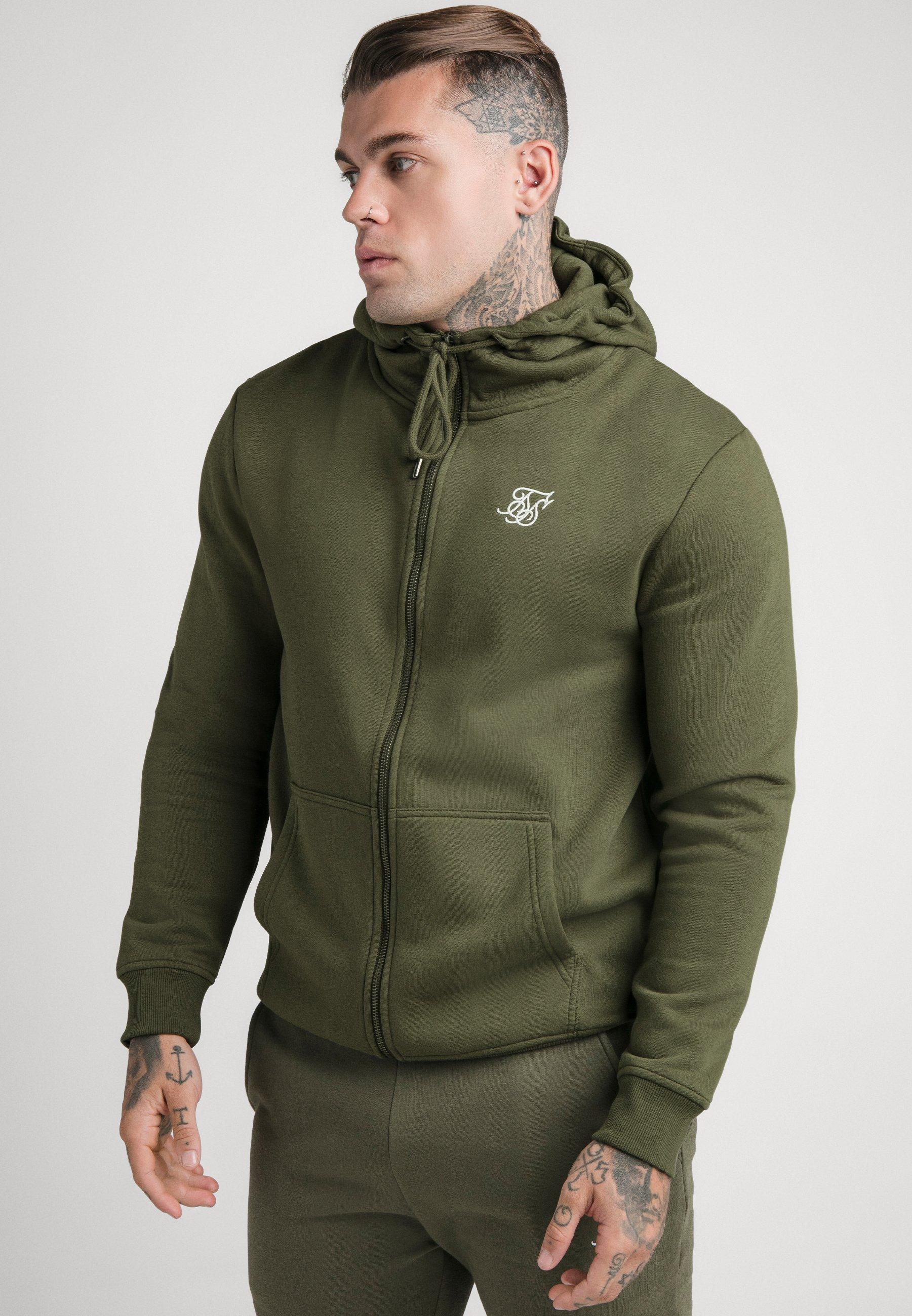 Men ZIP THROUGH FUNNEL NECK HOODIE - Zip-up sweatshirt