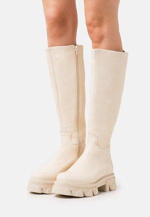 MANA - Platform boots - bone