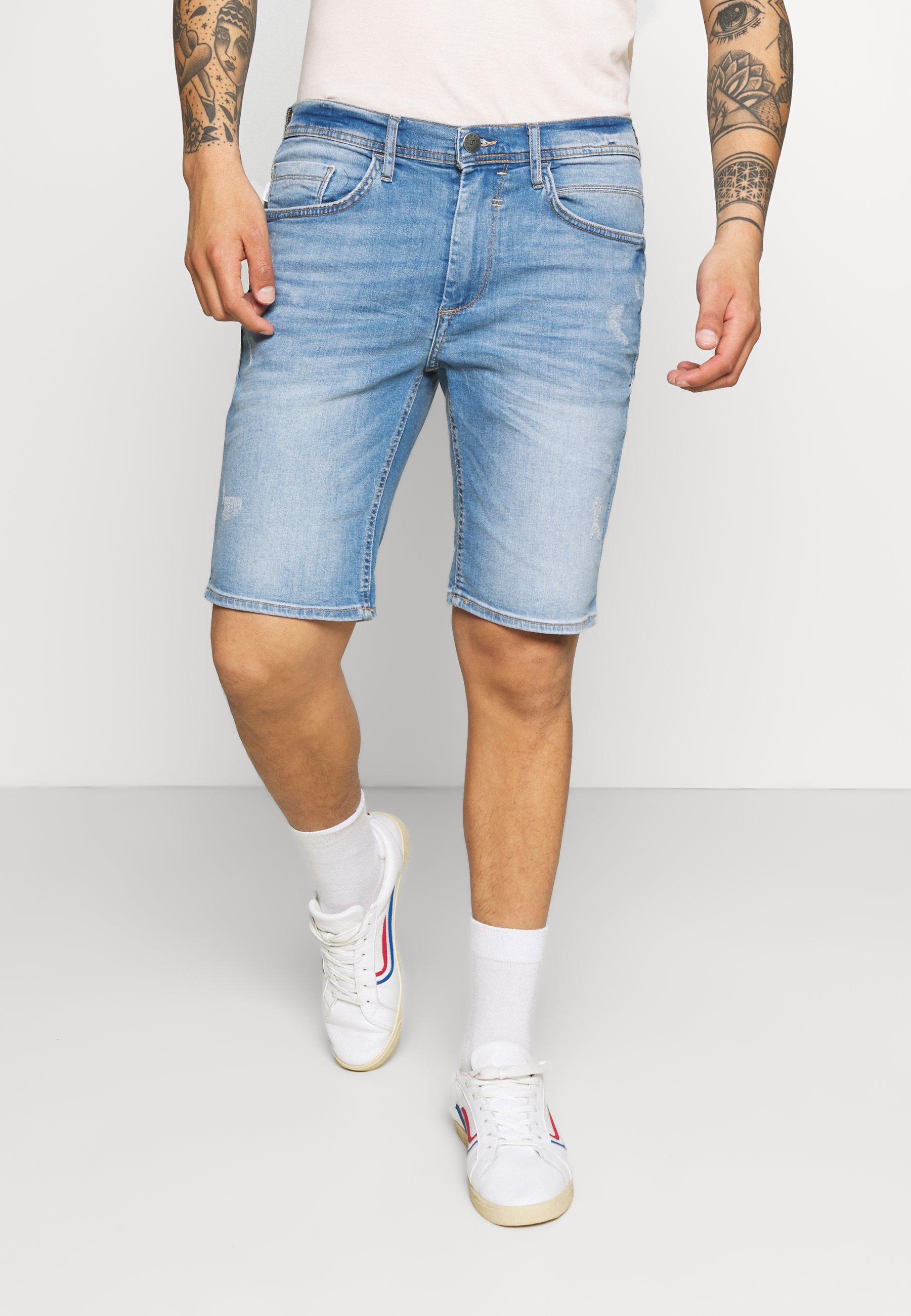 Men SCRATCHES - Denim shorts
