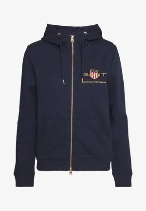 ARCHIVE SHIELD FULL ZIP HOODIE - Zip-up hoodie - evening blue