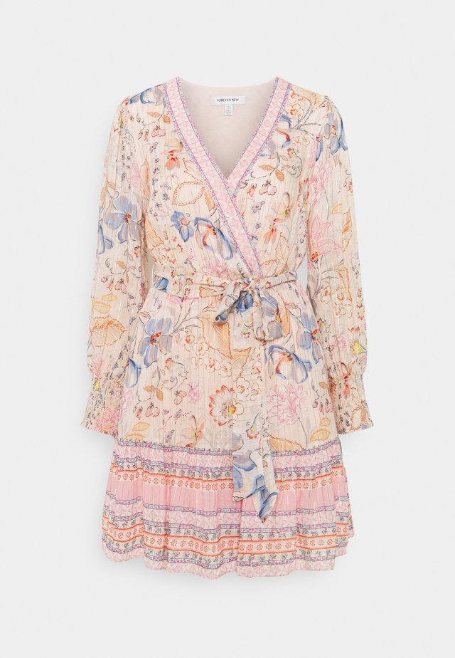 MARLEY PRINTED SKATER DRESS - Sukienka letnia - apricot