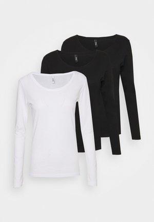 ONLSUN O NECK 3 PACK - Longsleeve - white/black