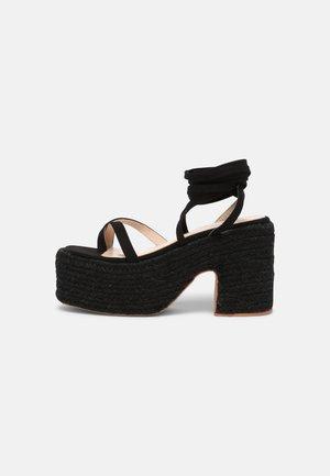 KENDRA - Sandały na platformie - black