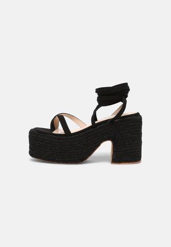 KENDRA - Platform sandals - black