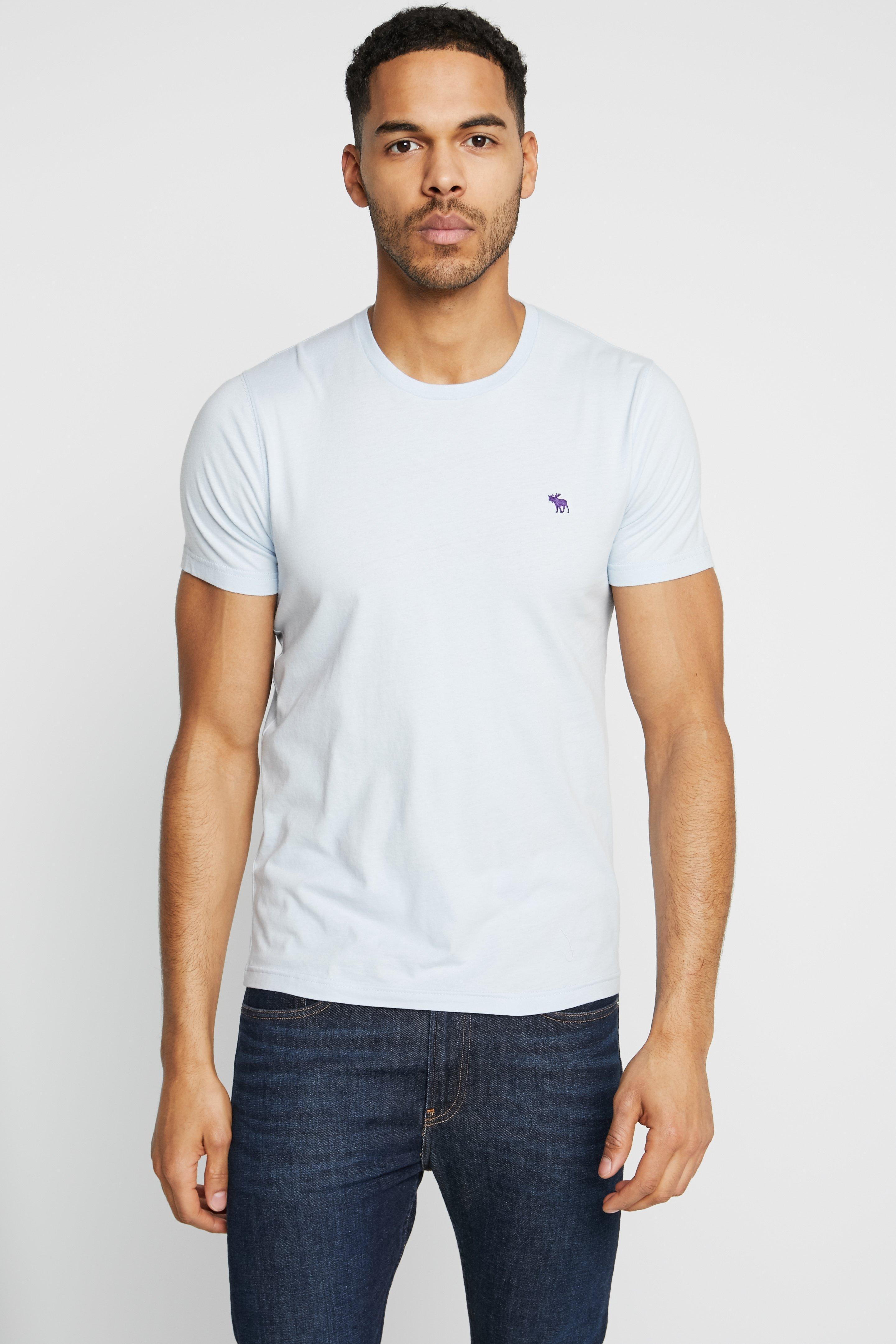Abercrombie & Fitch Fringe Crew 3 Pack - T-shirt Basic Black/light Blue/dark Blue