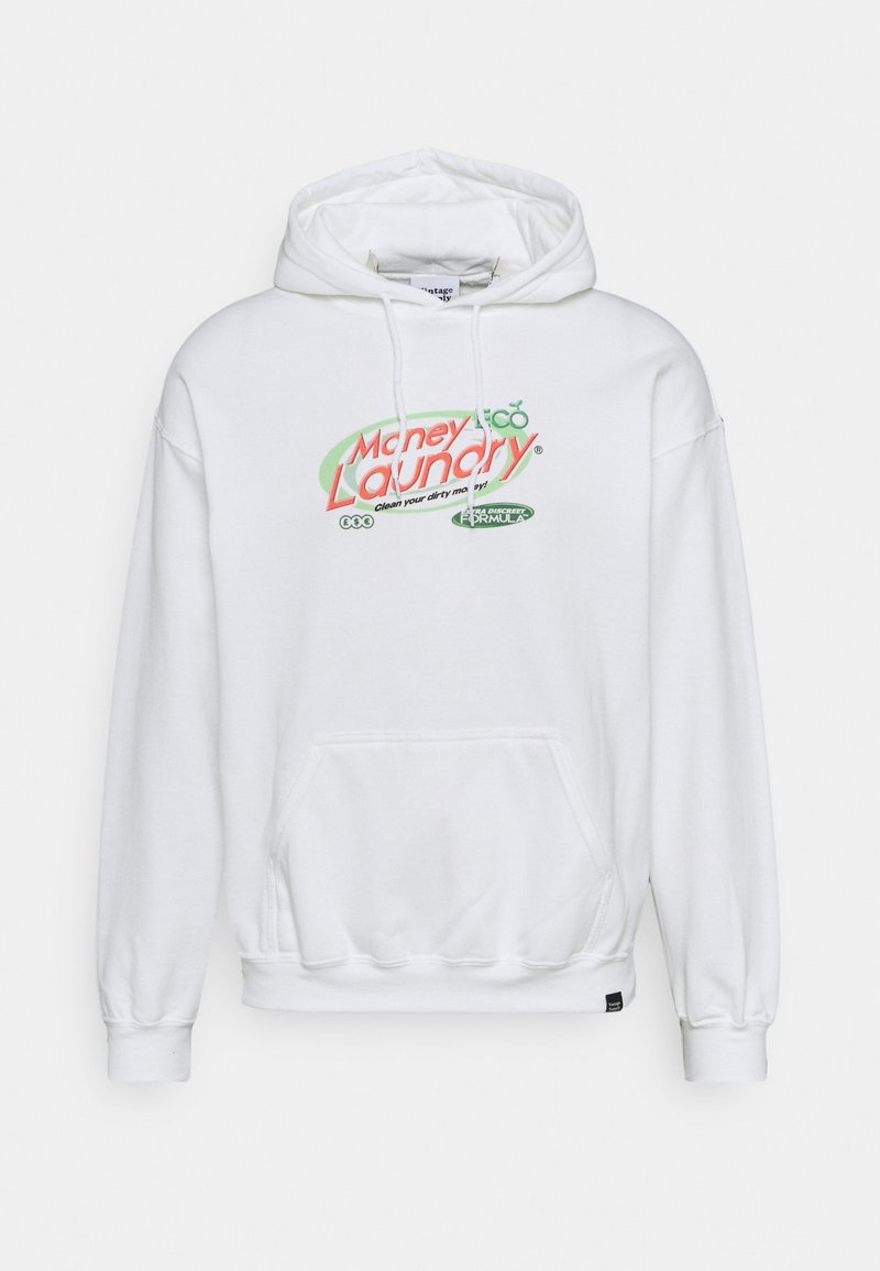 Vintage Supply - MONEY LAUNDRY HOODIE - Sweatshirt - white