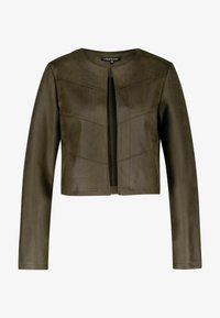 one more story - Faux leather jacket - sea turtle