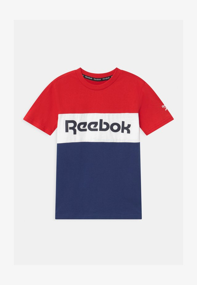 COLOR BLOCK - T-shirt con stampa - red