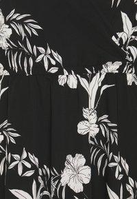ONLY Carmakoma - CARLUXINA WRAP KNEE DRESS - Day dress - black - 2