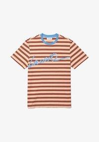 Lacoste - Print T-shirt - orange clair / bleu / marron / rouge - 4