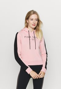 Pink Soda - YARROW HOODIE - Jersey con capucha - pink black - 0