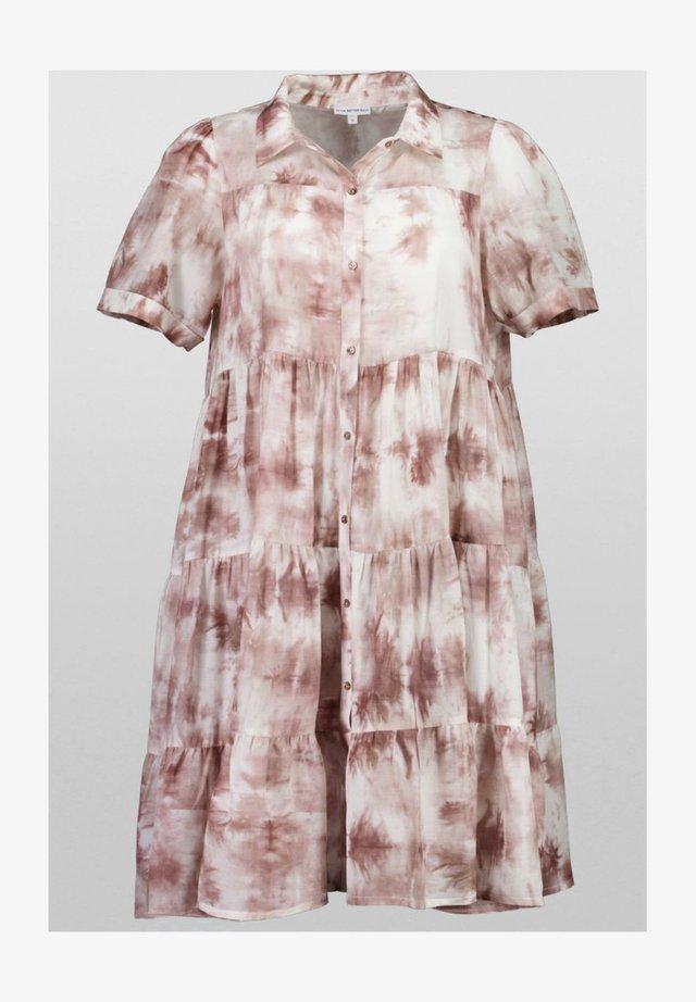 Shirt dress - brown batik