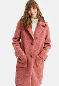 WE Fashion - TEDDY - Classic coat - old rose - 3