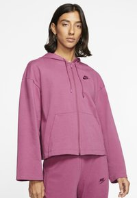 Nike Sportswear - MIT DURCHGEHENDEM REISSVERSCHLUSS - Zip-up hoodie - mulberry rose/villain red - 0