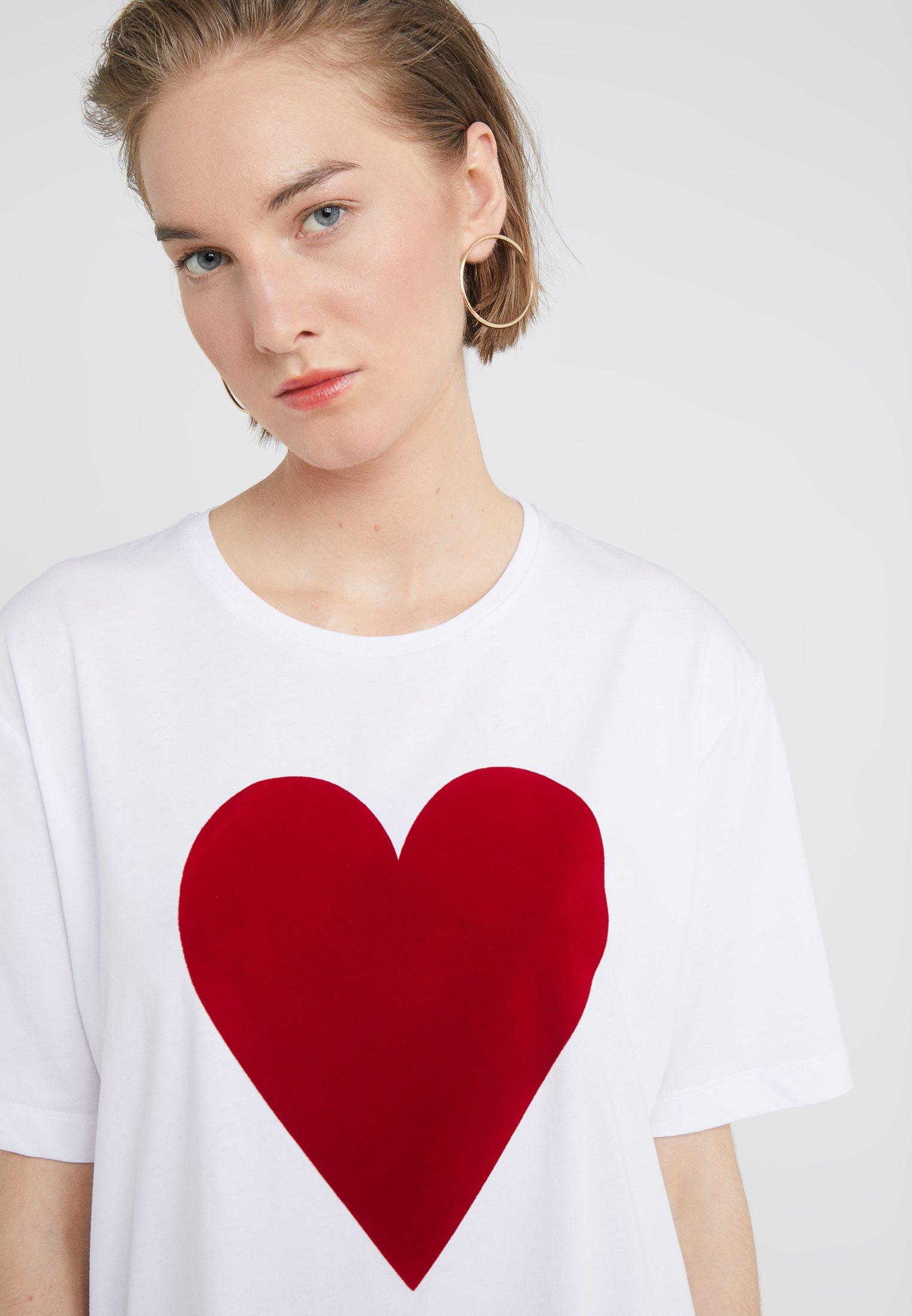 Love Moschino T-shirts Med Print - White/hvit
