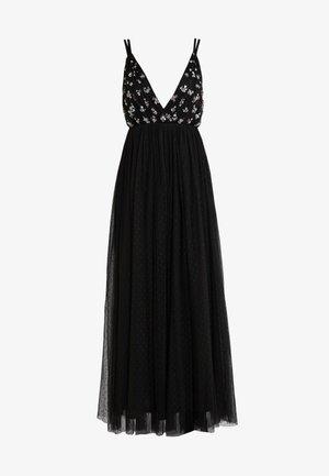 NEVE EMBELLISHED BODICE MAXI DRESS - Společenské šaty - ballet black