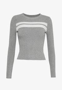 Even&Odd Petite - Strikpullover /Striktrøjer - grey/white - 4