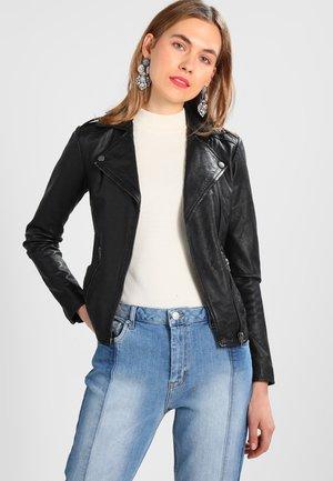 ALEXANDRA  - Leather jacket - black
