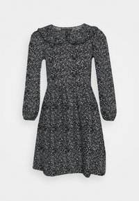 Dorothy Perkins - COLLAR FIT AND FLARE - Day dress - black - 3