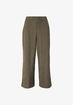 MIT ELASTISCHEM BUND - Trousers - brown