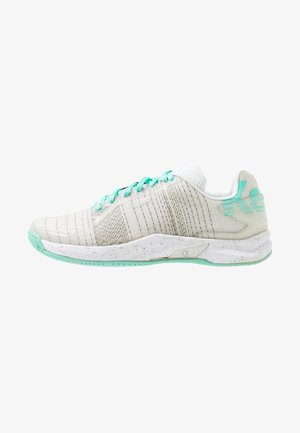 ATTACK ONE WOMEN CONTENDER - Handball shoes - white/turquoise