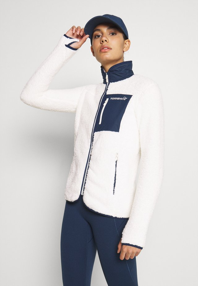 Fleece jacket - off-white