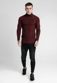 SIKSILK - LONG SLEEVE BRUSHED TURTLE NECK - Svetr - burgundy - 1