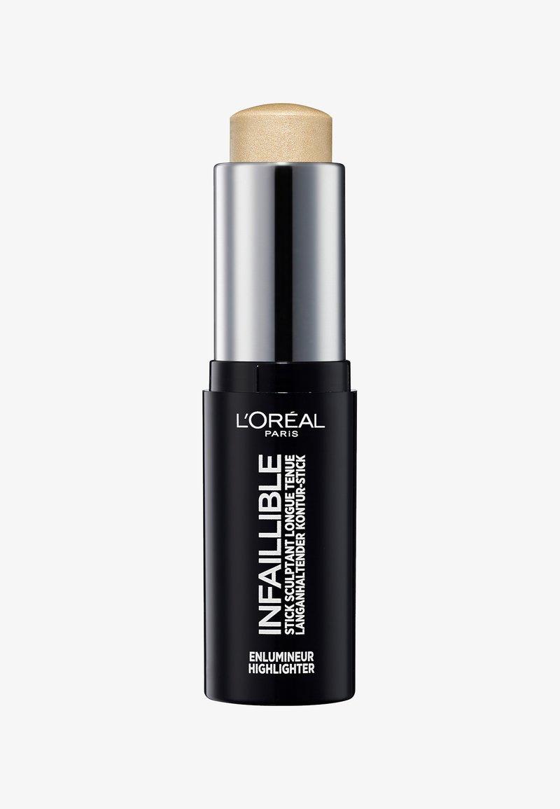 L'Oréal Paris - INFAILLIBLE CONTOUR STICK HIGHLIGHTER - Highlighter - 502 gold is cold