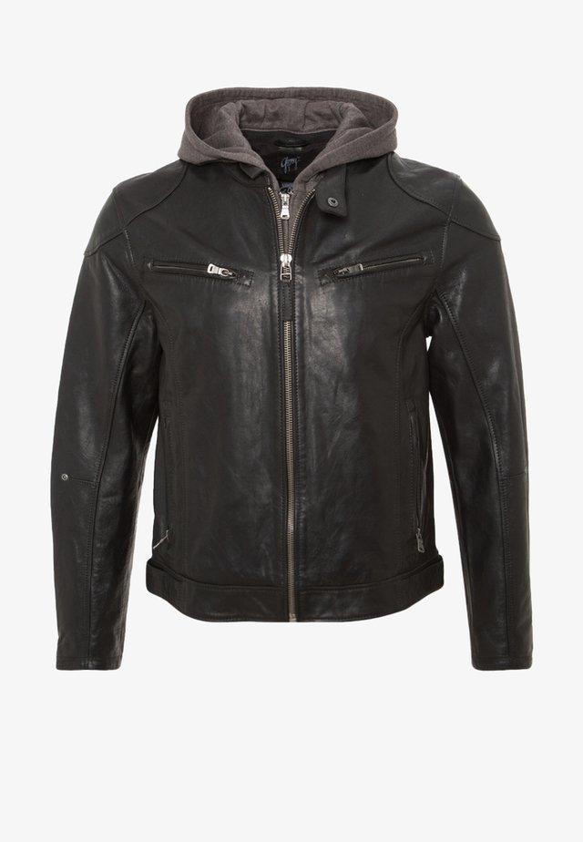 BIKO - Leather jacket - schwarz