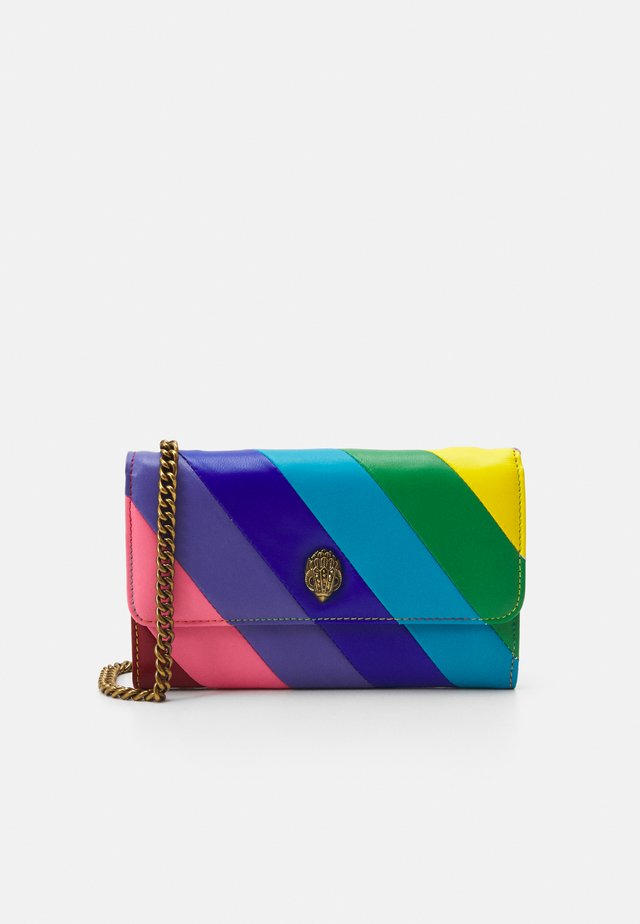 STRIPE CHAIN WALLET - Portemonnee - blue
