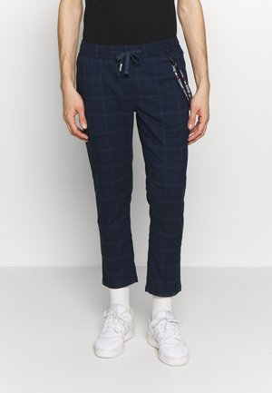 SCANTON CHECKED TRACK PANT - Trousers - twilight navy
