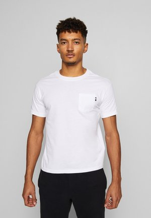 WOMENS RELAXED POCKET TEE - Jednoduché triko - white