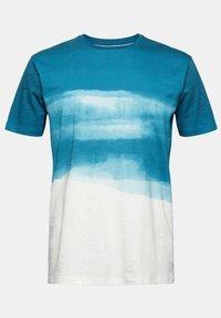 Esprit - FASHION SLUB - Print T-shirt - petrol blue - 11
