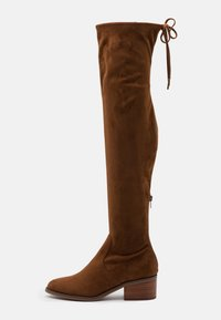 Steve Madden - GERARDINE - Overknee laarzen - brown - 1