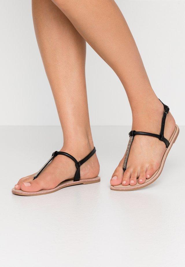 ONLMARGIT SPLIT TOE  - T-bar sandals - black