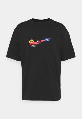JUMPMAN CREW - T-shirt con stampa - black/gym red