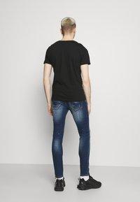 Brave Soul - Print T-shirt - jet black/gold - 2