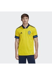 adidas Performance - SWEDEN SVFF HOME JERSEY - Landsholdstrøjer - yellow/indigo - 0